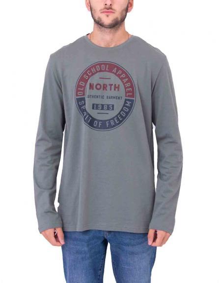 Camiseta estampado frontal North Losan para hombre - Imagen 3
