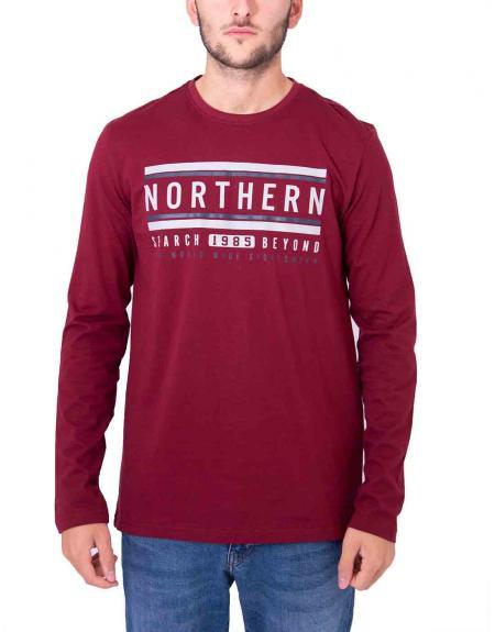 Camiseta estampado frontal Northern Losan para hombre - Imagen 4