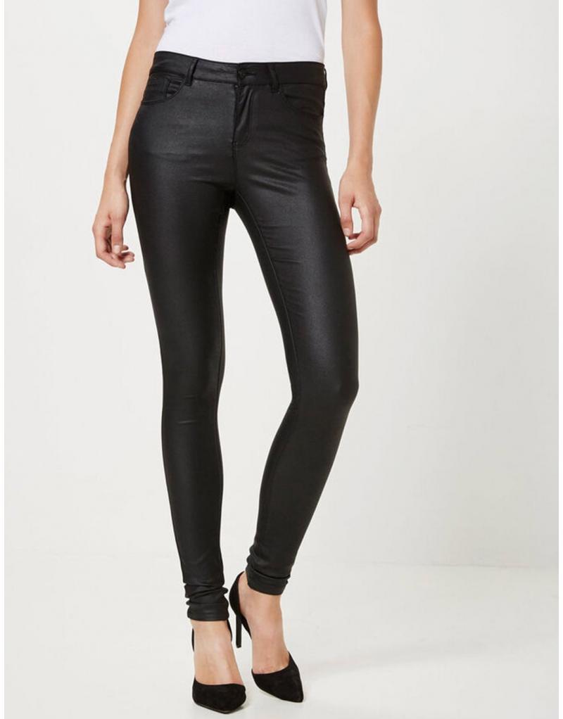 Pantalón polipiel negro Vero Moda Seven smooth para mujer - Imagen 1