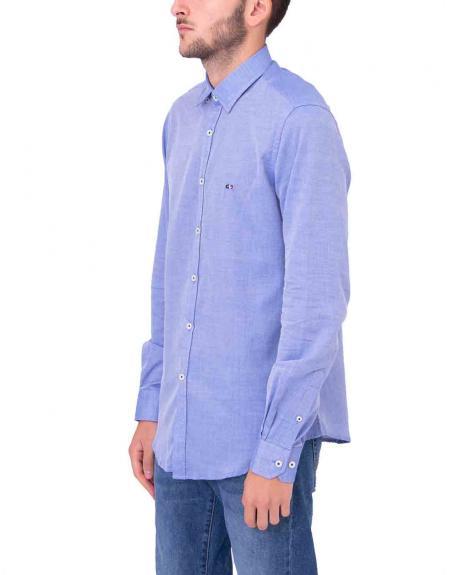 Camisa azul casual Gendive custom fit para hombre - Imagen 2