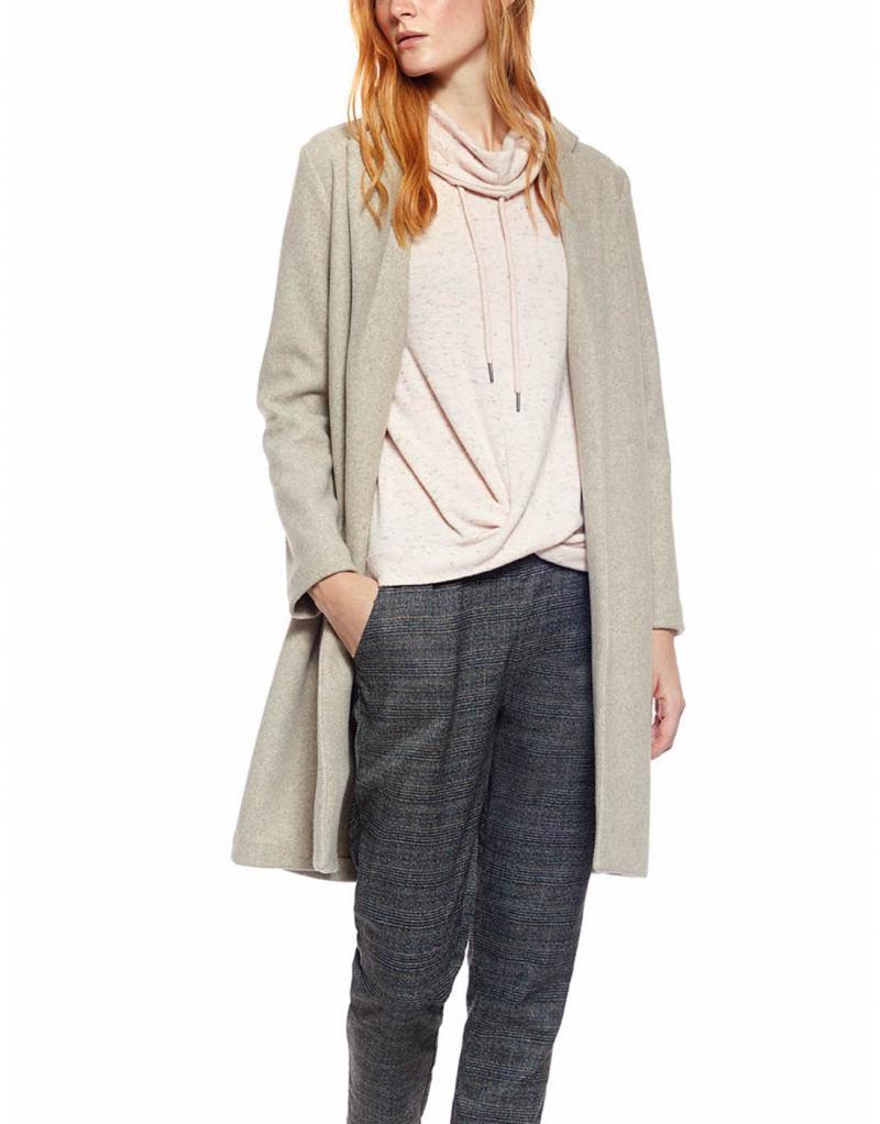 Abrigo largo beige Losan para mujer - Imagen 1
