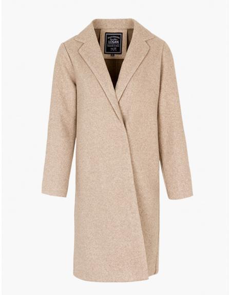 Abrigo largo beige Losan para mujer - Imagen 2
