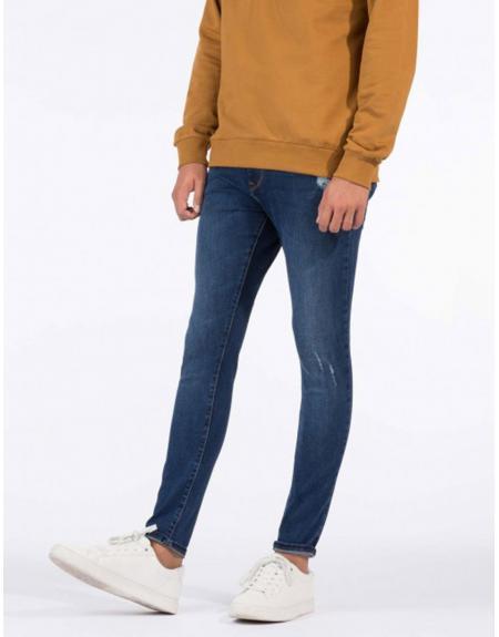 Pantalón vaquero pitillo azul rotos TIffosi Harry H169 para hombre - Imagen 1