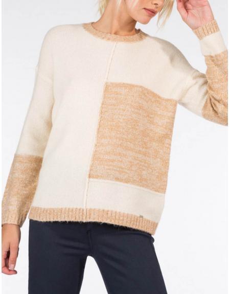 Jersey beige combinado Tiffosi Zalie para mujer - Imagen 2