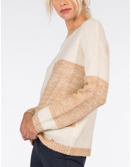 Jersey beige combinado Tiffosi Zalie para mujer - Imagen 3
