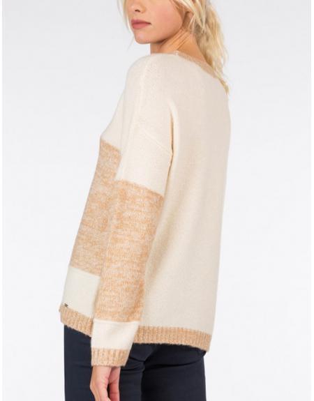 Jersey beige combinado Tiffosi Zalie para mujer - Imagen 4