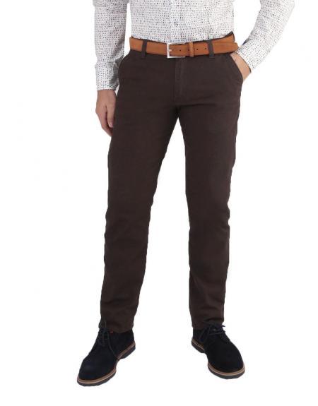 Pantalón chino Daniel Rufus moni marrón - Imagen 1