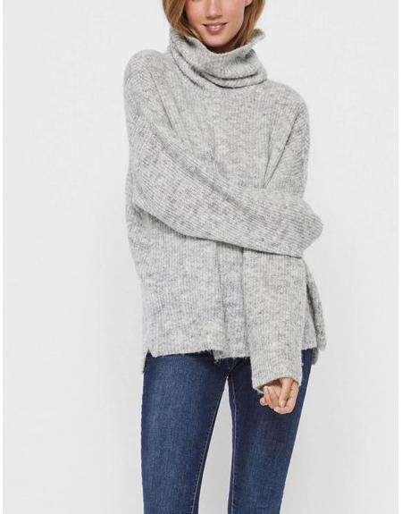 Jersey cuello vuelta gris  Vero Moda  para mujer - Imagen 1