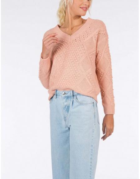 Jersey ropa cuello pico trenzado Tiffosi Eliza para mujer - Imagen 1