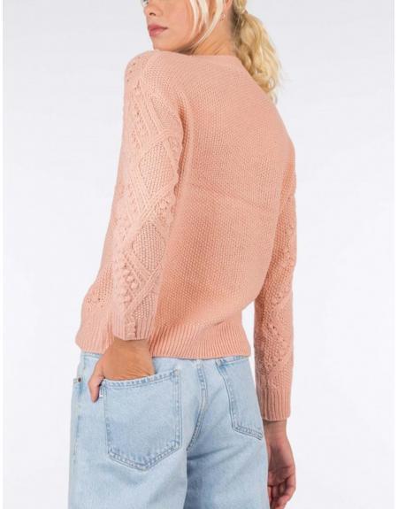 Jersey ropa cuello pico trenzado Tiffosi Eliza para mujer - Imagen 2