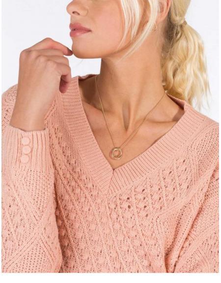 Jersey ropa cuello pico trenzado Tiffosi Eliza para mujer - Imagen 3