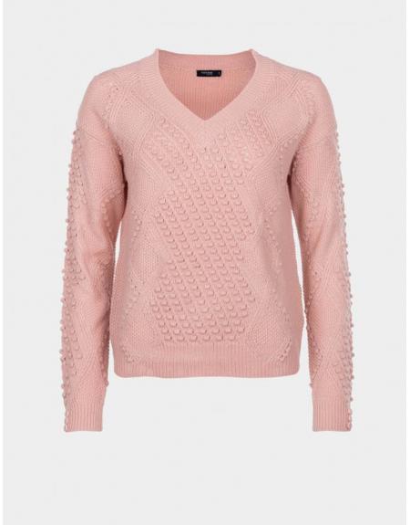 Jersey ropa cuello pico trenzado Tiffosi Eliza para mujer - Imagen 4