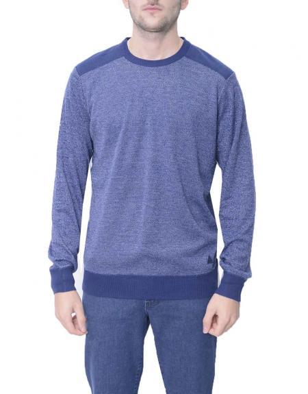 Jersey azul marino jaspeado Gendive para hombre - Imagen 1