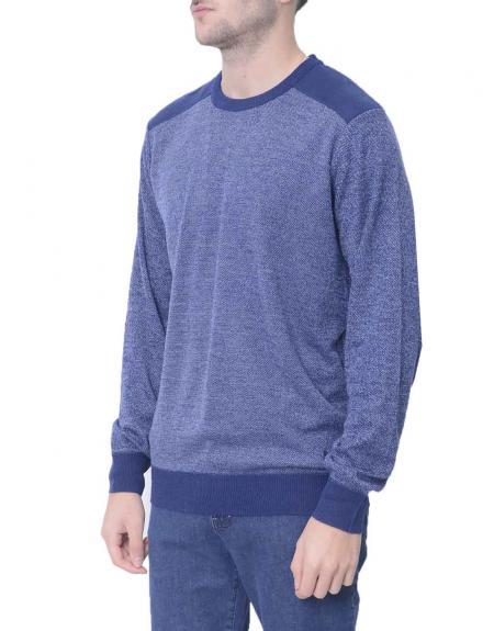 Jersey azul marino jaspeado Gendive para hombre - Imagen 2