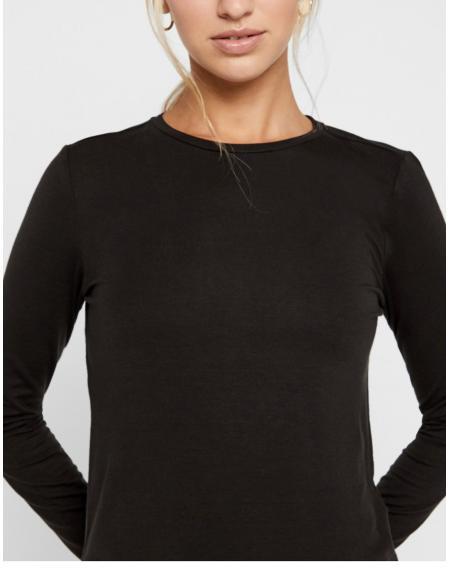 Camiseta Vero Moda Ava manga larga negro para mujer - Imagen 3