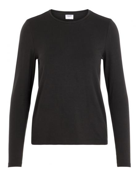 Camiseta Vero Moda Ava manga larga negro para mujer - Imagen 4