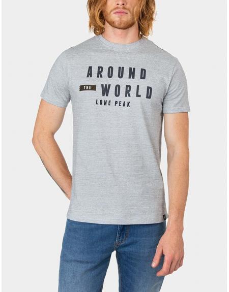 Camiseta Tiffosi Diggs gris letras m.c - Imagen 1