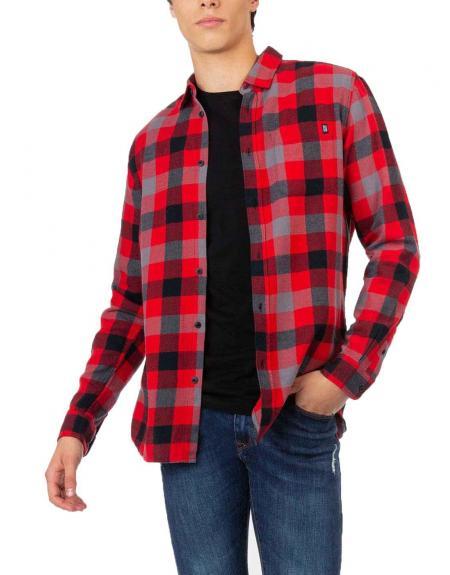 Camisa Tiffosi Barden cuadros rojo - Imagen 1