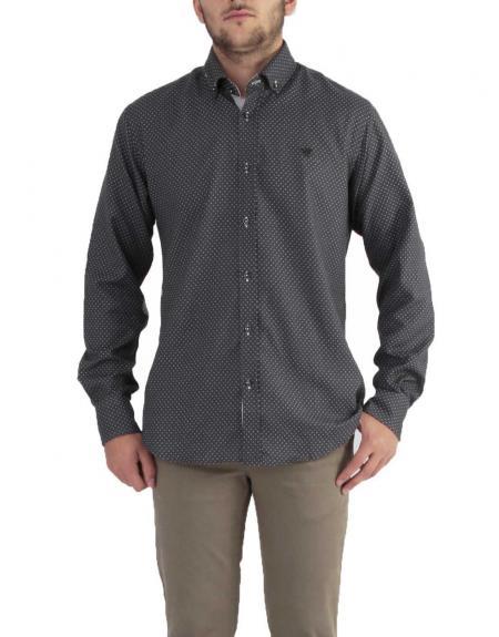 Camisa Cítrico gris círculos m.l - Imagen 1