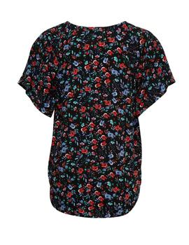 Blusa negra tela Byoung floral  Byhailey