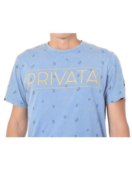 Azul Para Cactus Privata Camiseta Hombre 453LjcRAq