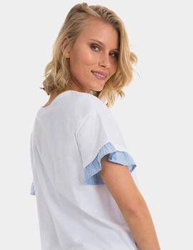 Camiseta Tiffosi blanco Kuji Enough para mujer