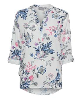 Blusa floral blanco Byhailey para mujer