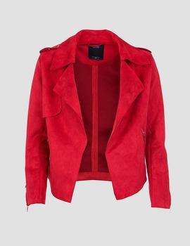 505c24736b6 Cazadora biker Tiffosi rojo Muse para mujer